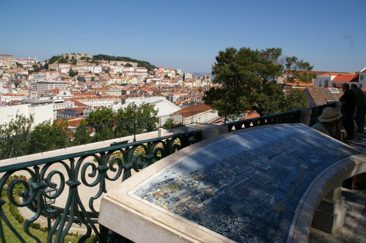 Tegeltafel met het overzicht van Lissabon