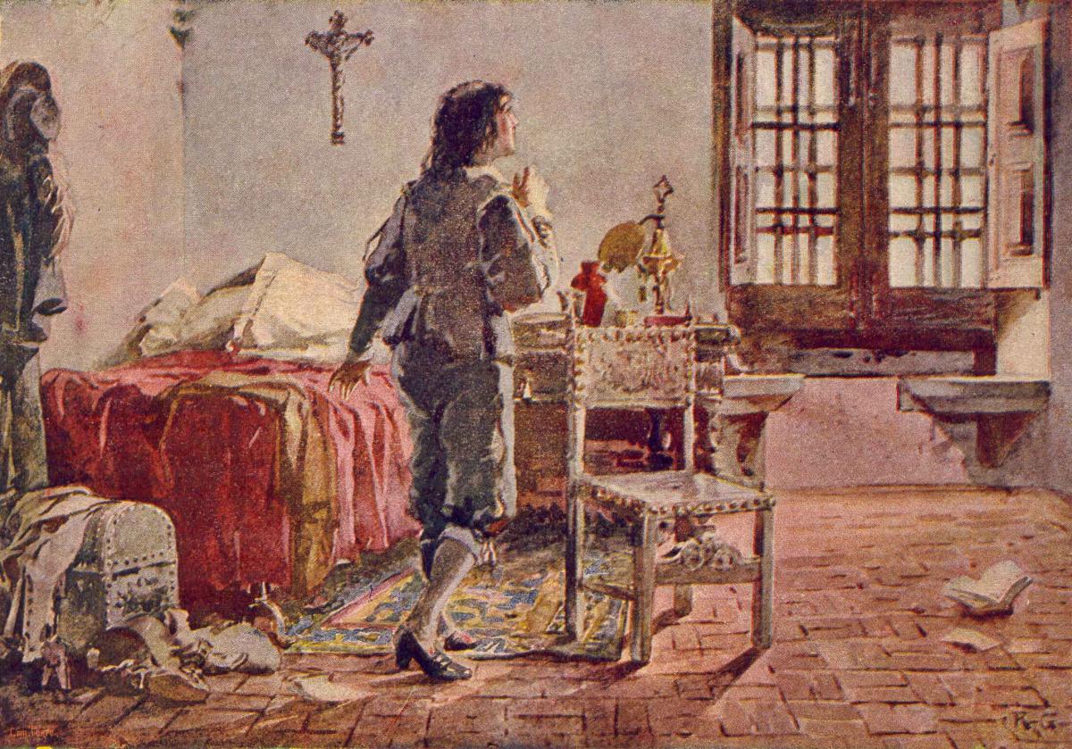 Schilderij van de dubbel gehandicapte Koning Afonso VI