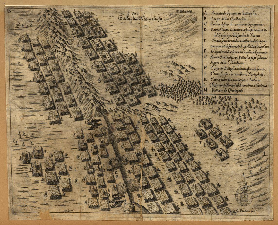 Het Portugese legerkamp bij Montes Claros