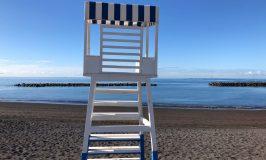 Stoel van de strandwacht