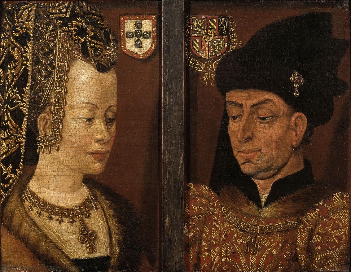 Schilderij van Isabella van Bourgondië en Filips de Goede