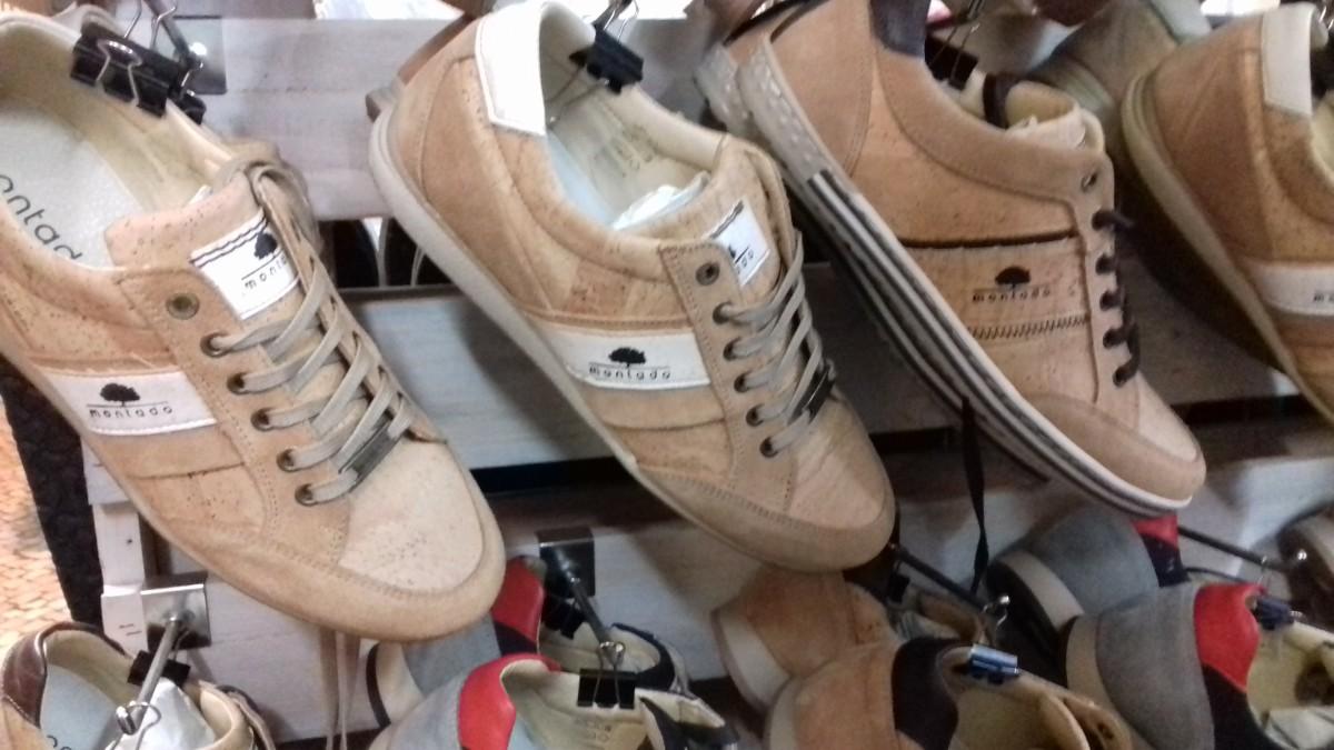 Schoenen gemaakt van kurk