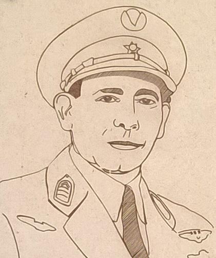 Tekening van Generaal Humberto Delgado