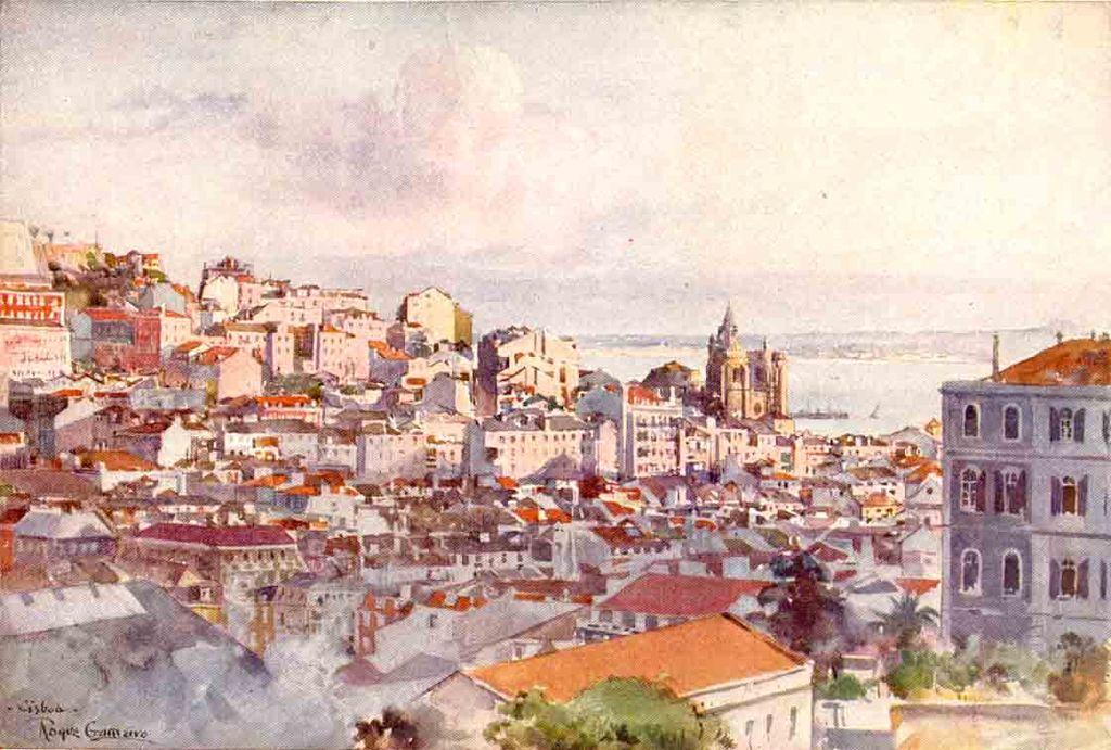 issabon gezien vanuit S. Pedro de Alcântara