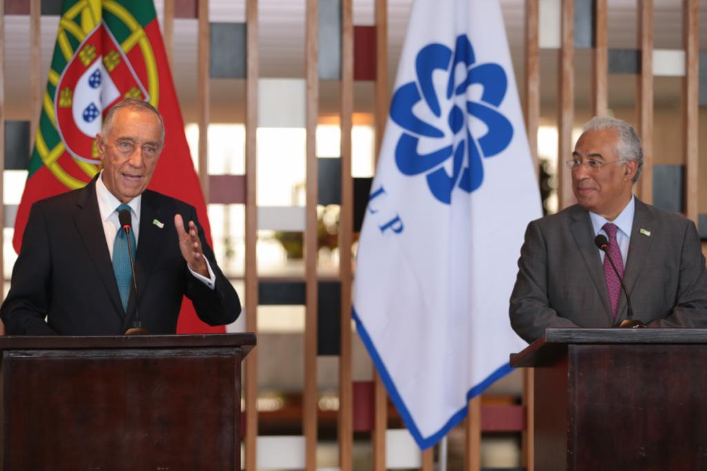 Foto van Premier António Costa en President Marcelo Rebelo de Sousa van Portugal