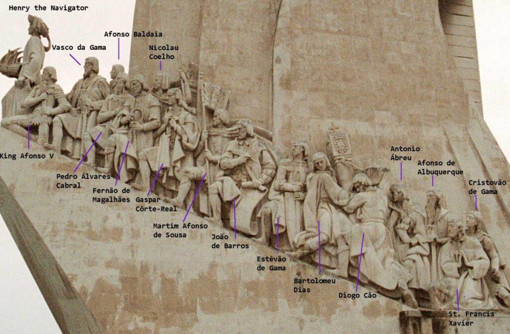 Portugese ontdekkingsreizigers, standbeeld