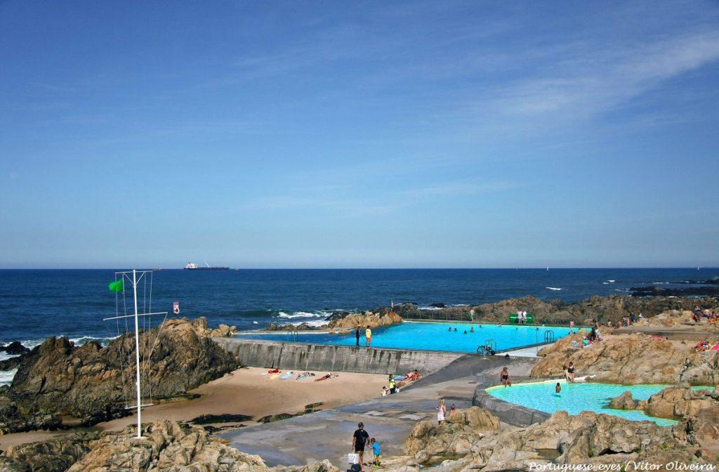 Zoutwater zwembaden in Matesinhos. Dit complex werd gebouwd eind 1950 en wordt nu gerenoveerd in samenwerking met de architect.