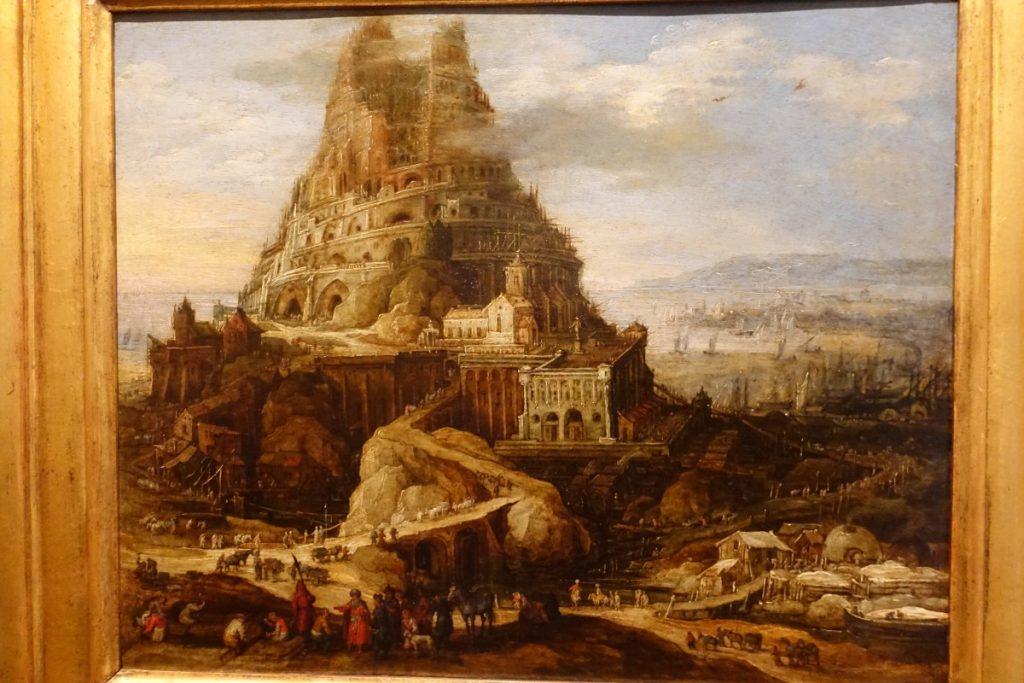 schilderij van de toren van Babel