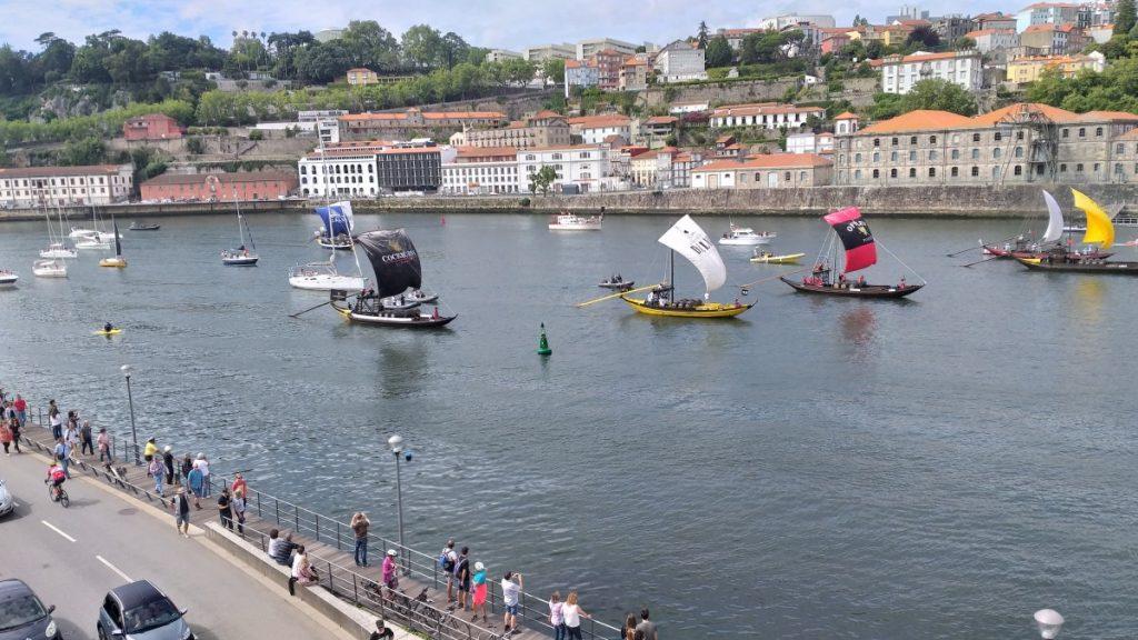 Zeilwedstrijd op de Douro