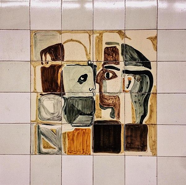 Tegeltableau in de metro Lissabon