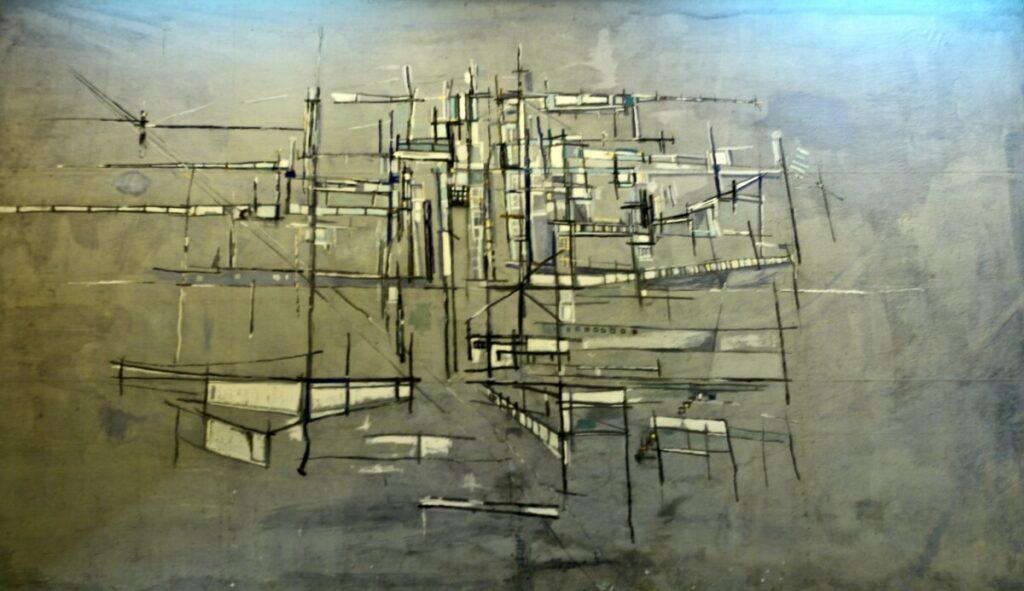 Werk van Vieira da Silva zonder titel
