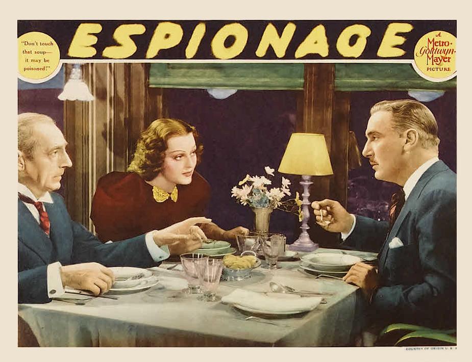 Filmposter van de film Espionage uit 1937
