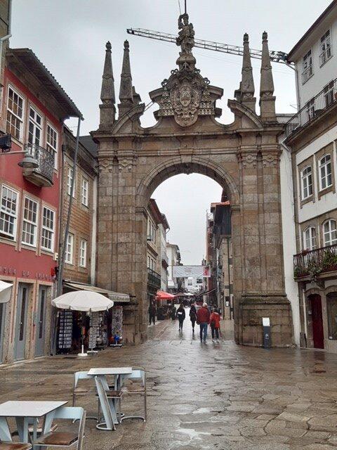 Stadsbeeld van oud Braga