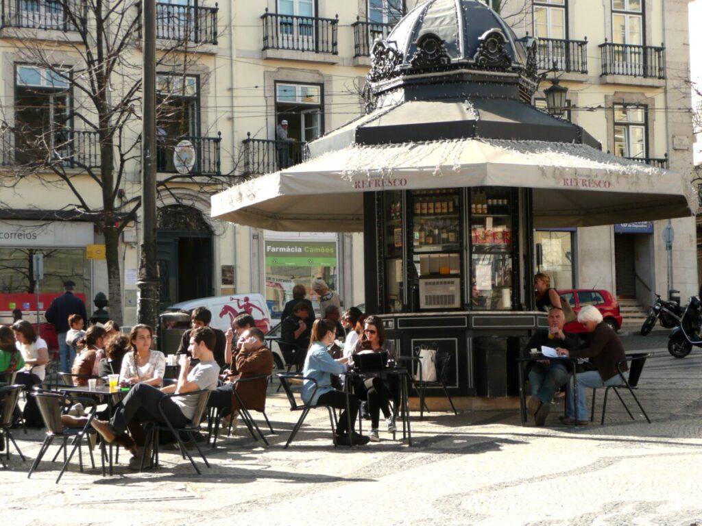 Praça Luís de Camões in Lissabon