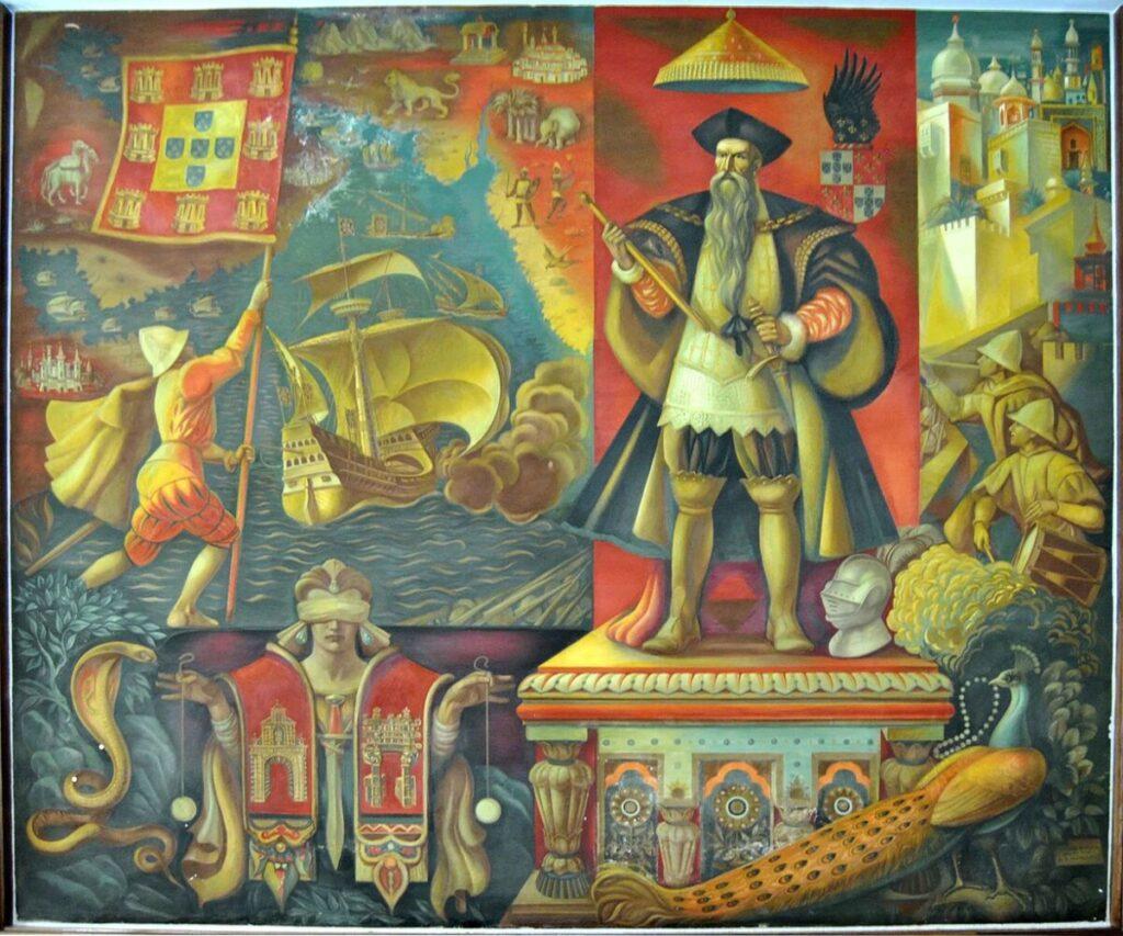 Afonso de Albuquerque op een wandschildering