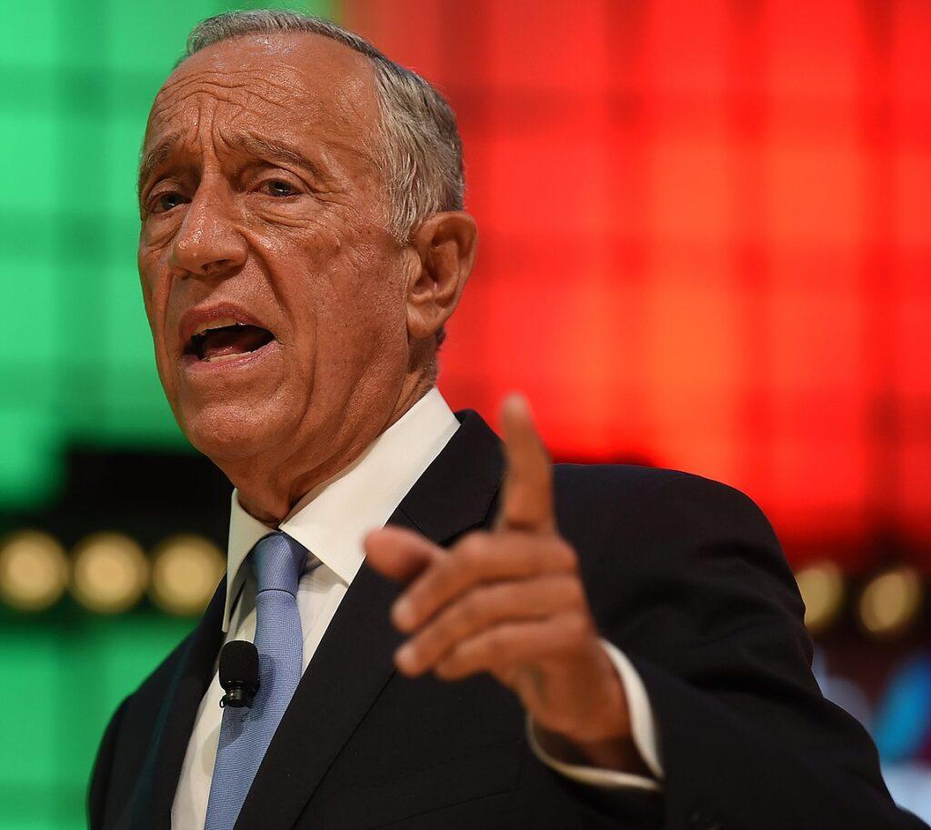Portret van Marcelo Rebelo de Sousa, president van Portugal