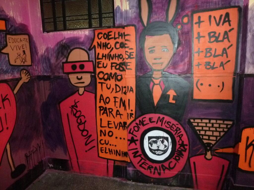 Straatkunst met een maatschappelijk sociale boodschap