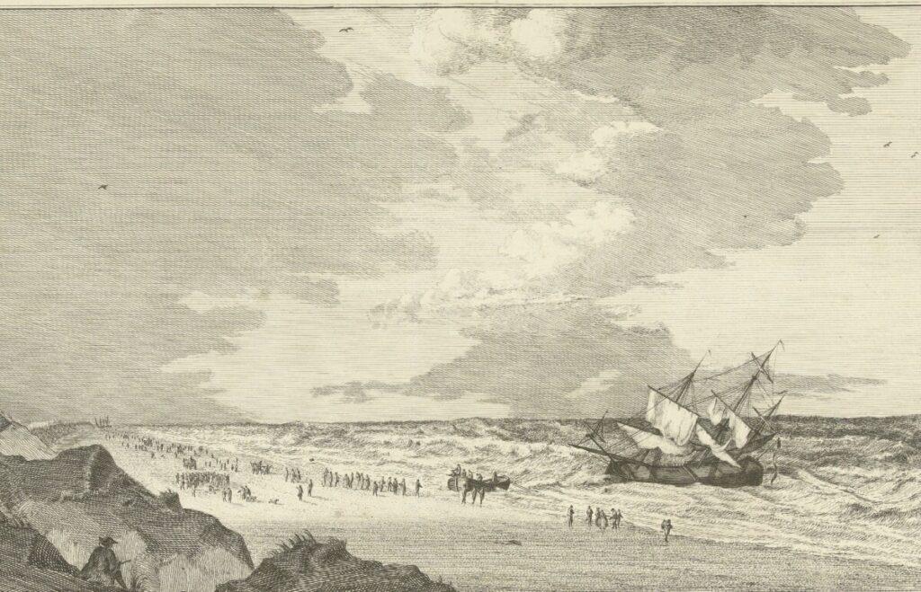 Gestrand VOC-schip