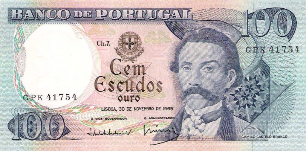 Camilo Castelo Branco op een bankbiljet van 1000 Escudos